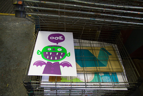 screenprint class week 3.5: boo