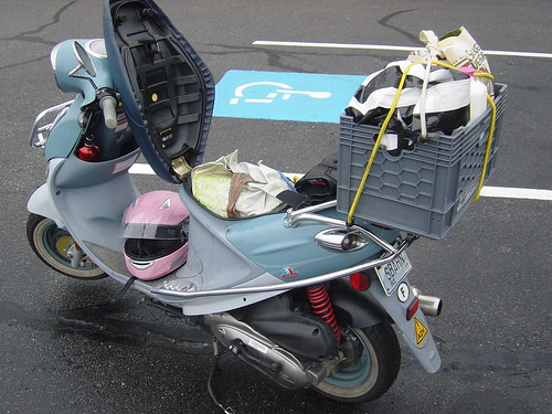 Two-wheeled Trader Joe's turkey transportation