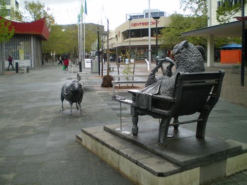 Ainslie's Sheep Sculpture by Les Kossatz