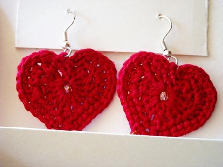 Crochet - Hearty Earrings -PKD6