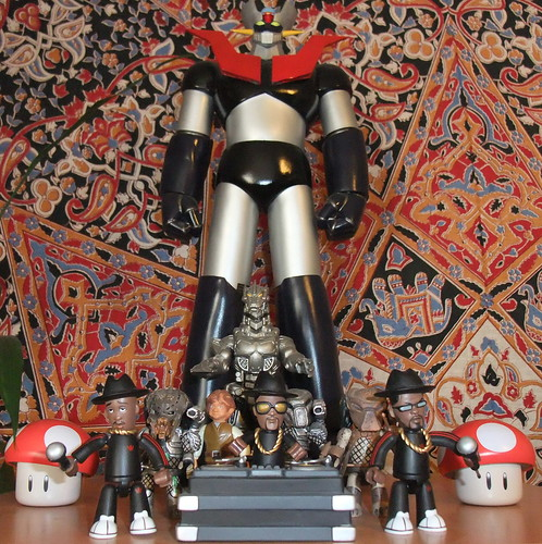 RUN-DMC, some Predators, Frodo Baggins, the Mushrooms from Super Mario Bros. Mechagodzilla, and Mazinger