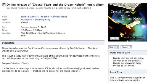 "Online release of ""Crystal Tears and the Dream Nebula"" music album 