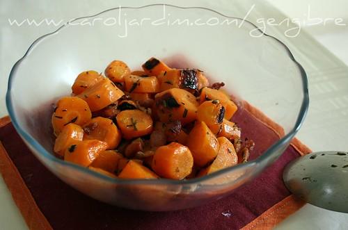 27. Cenouras assadas in cartoccio