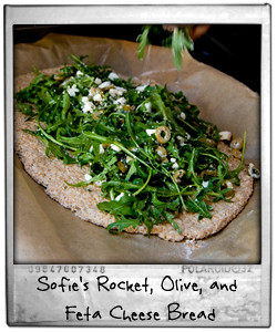 Sofie's Rocket Olive and Feta Cheese Bread