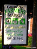 Greenfield Farmers' Market Sign