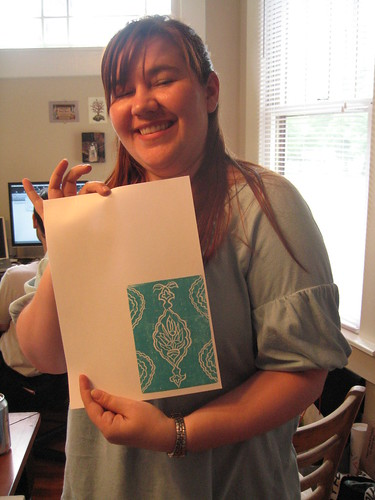 lea with her print by you.