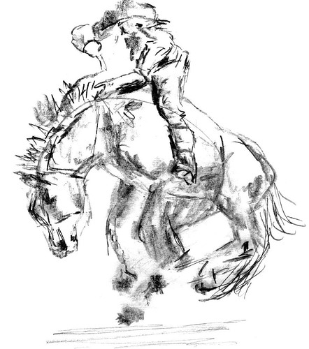 Rodeo horse sketch, part 3