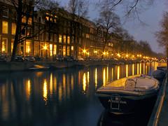 Singel Canal at Twilight