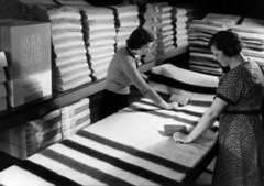Women working at the Portland Woolen Mills