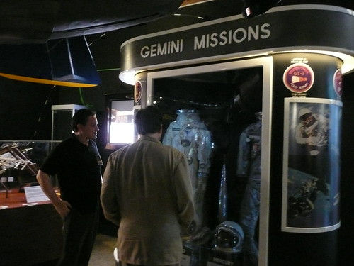 Checking out the Gemini and Mercury Spacesuits