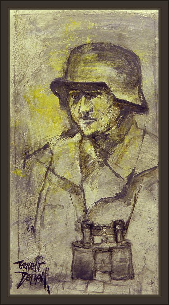 DEUTSCH OFFIZIER-GERMAN OFFICIAL-WW2-ERNEST DESCALS-COLECCION DE CASCOS-HELMET COLLECTION