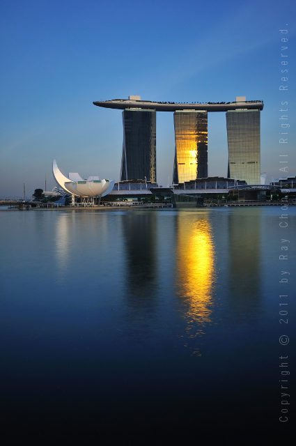 Sunset on Marina Bay, Singapore