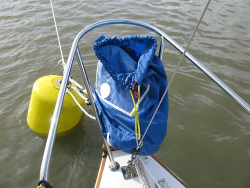 On sailing a Folksong – spinnaker preparation | Beyond Steeple Point
