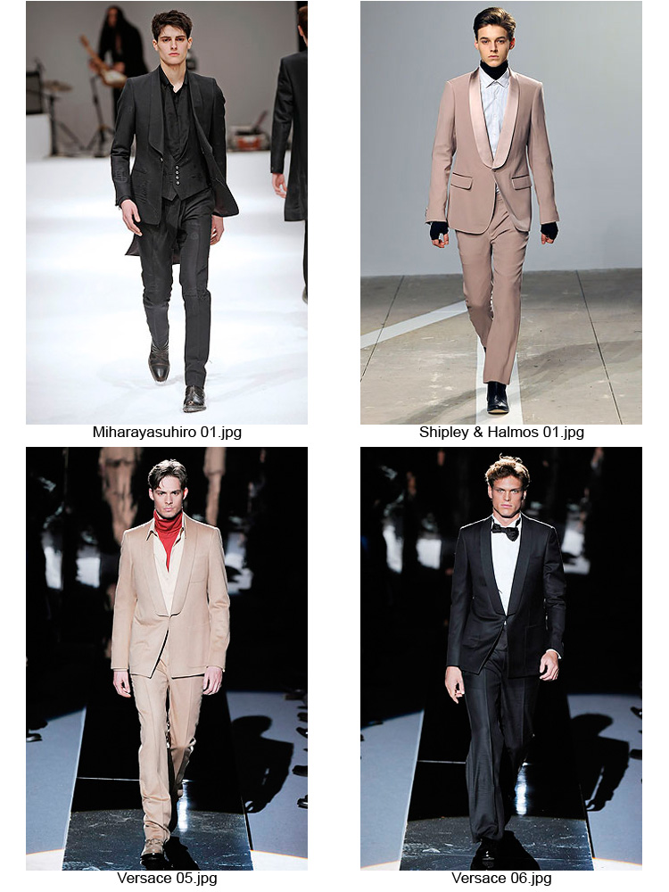 F/W09 Shawl Collar Suits