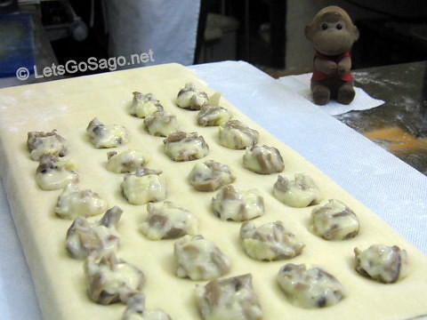 Mushroom & Mozarella Ravioli in the making