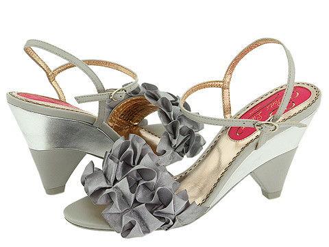 ugly silver frilly shoes by Poetic License