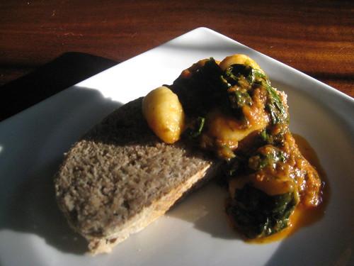 Gnocchi, Spinach, Italian Bread
