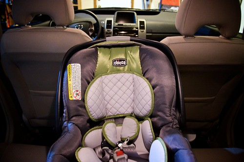 Fig's car seat