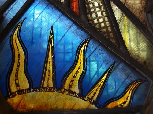 Detail from LSLs window at St Lukes, Reigate