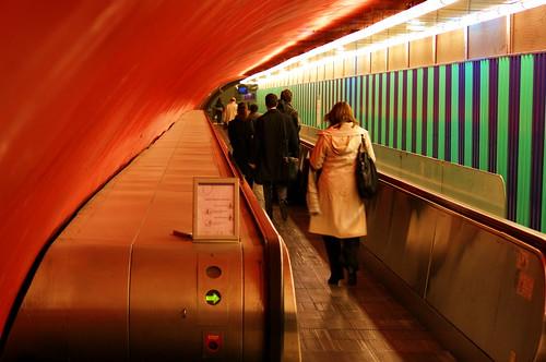 Paris Métro Opéra le changement vers le RER A 3