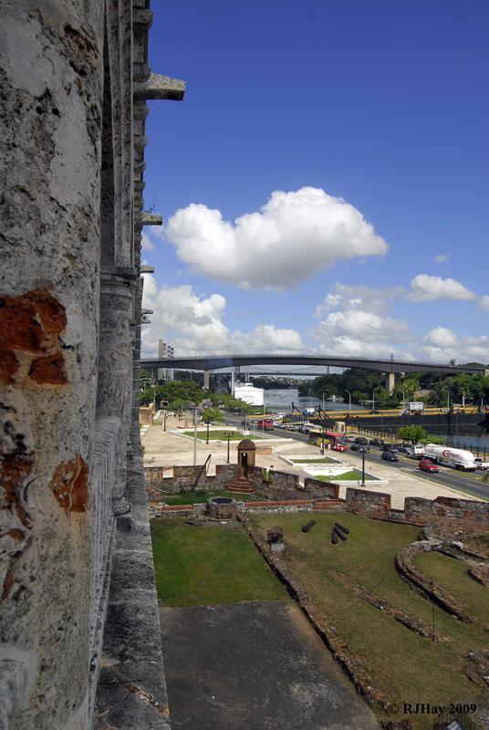 A view over the grounds and the Ozama River -  Alcazar de Colon (Palacio de Diego Colon), Santo Domingo, Dominican Republic