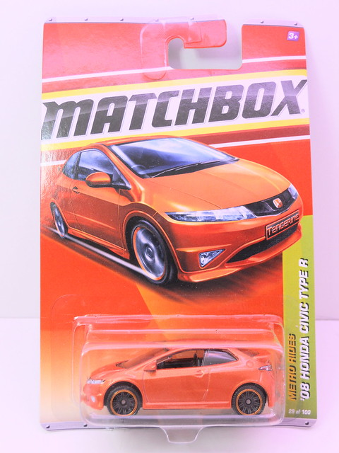 matchbox '08 honda civic type r orange (1)