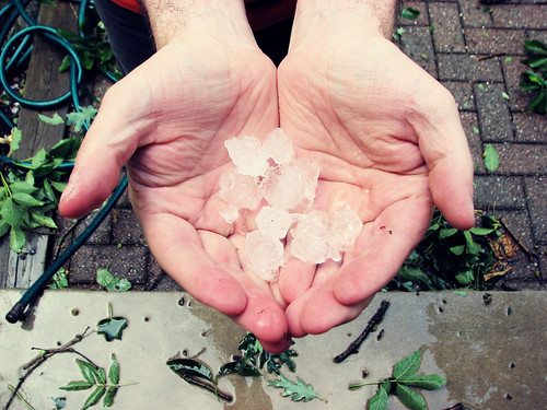 A Month of Hands: 26/31 BONUS :: Husband Holding Hail