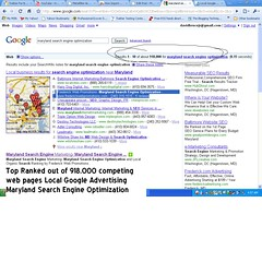 Maryland Search Engine Optimziation 9-1-09