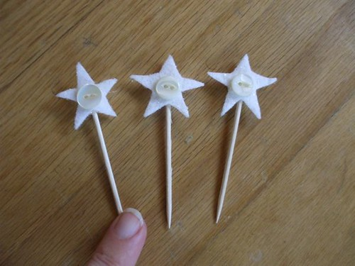 button star toppers for my gossamer thread trees