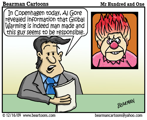 12 16 09 Bearman Cartoon Global Warming Heat Miser