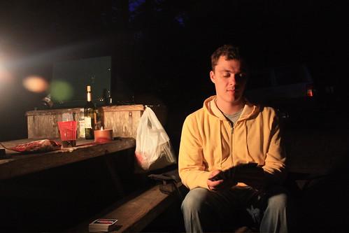 Campsite fire