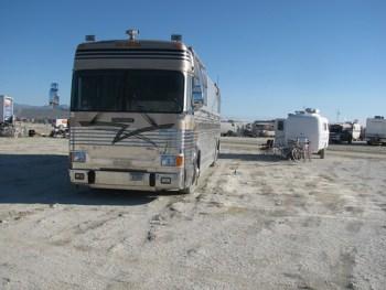 Rendezvous with WhereIsBen.coms Bus at Burning Man