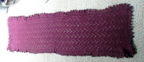 Domovoi shawl done and blocked