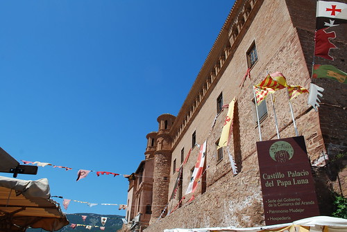 The castle with flags