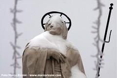 Neve nel centro di Desenzano del Garda