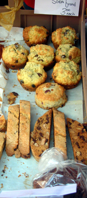 Irish soda bread and biscotti
