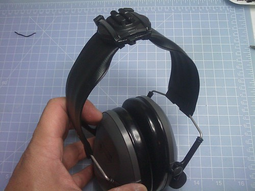 Contour HD mount on Headband by you.