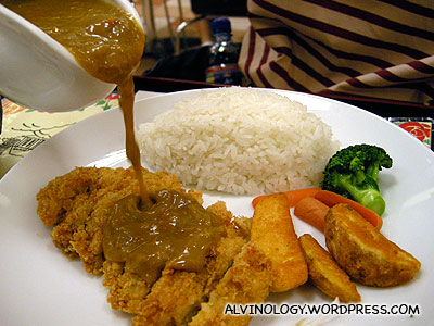 Melvin ordered the curry version