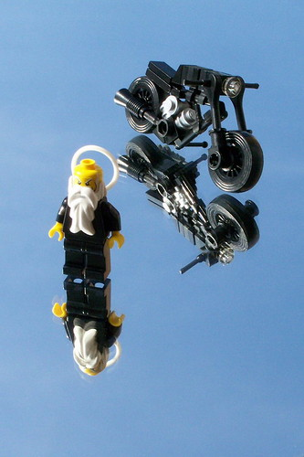 LEGO Jehovah minifig with motorbike