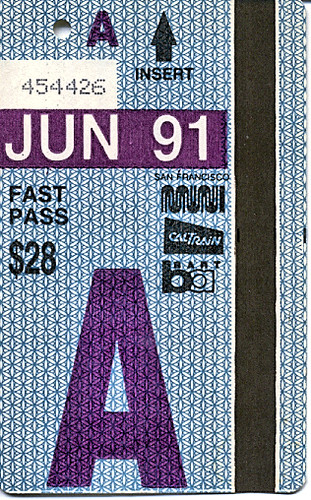 Muni Fast Pass from 1991