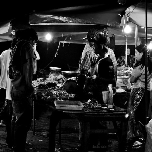 chicken stall at the night market