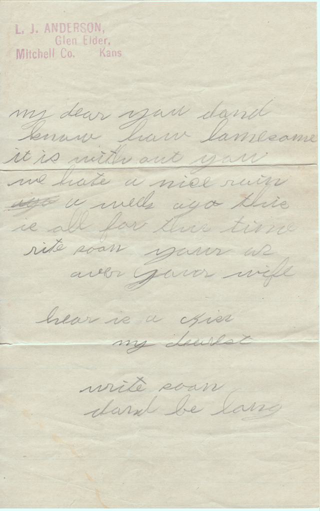 October 28, 1900,1906 or 1917 Freeta to L.J. Page 2