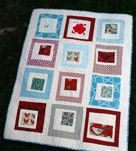 Red & Aqua Quilt