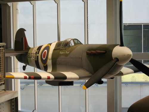 One of several warplanes on display at the museum.