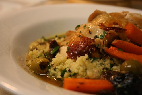Chicken Marbella with Couscous and Carrots