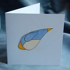 penguin pop-up card PF09 a