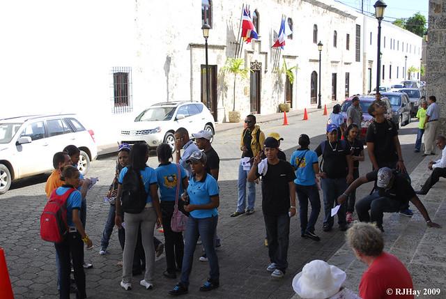 A student outing to the Panteon de la Patria, Colonial Zone, Santo Domingo, Dominican Republic