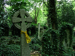 Danger, falling gravestones