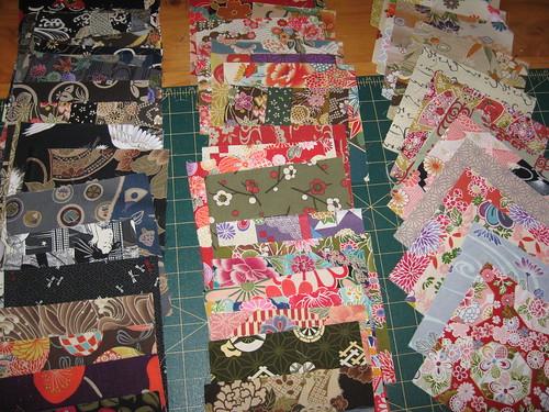 Value quilt fabrics - dark, medium, light by you.