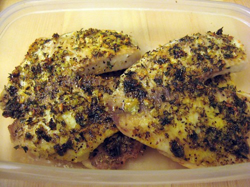 Finished Herb-Garlic Tilapia in Contianer